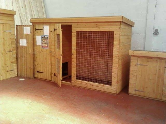 Pent Kennel and Run