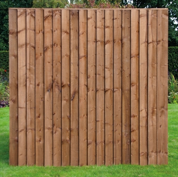 Weather board fence panels