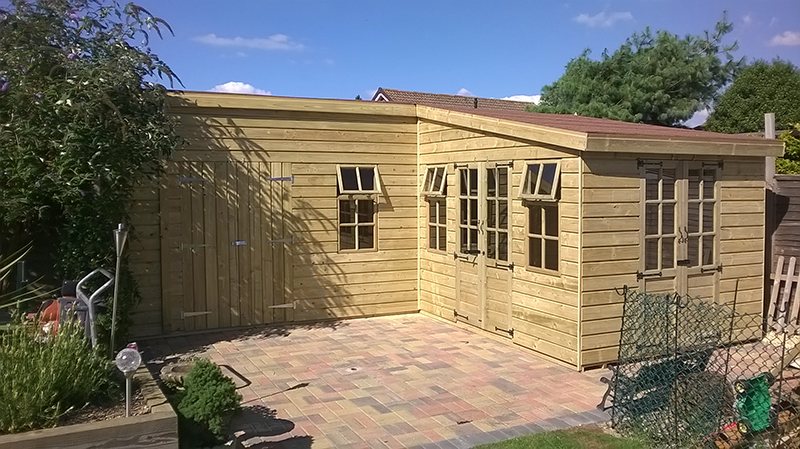 L Shape Summerhouse